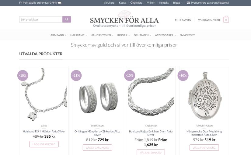 Sälja smycken via e-handel